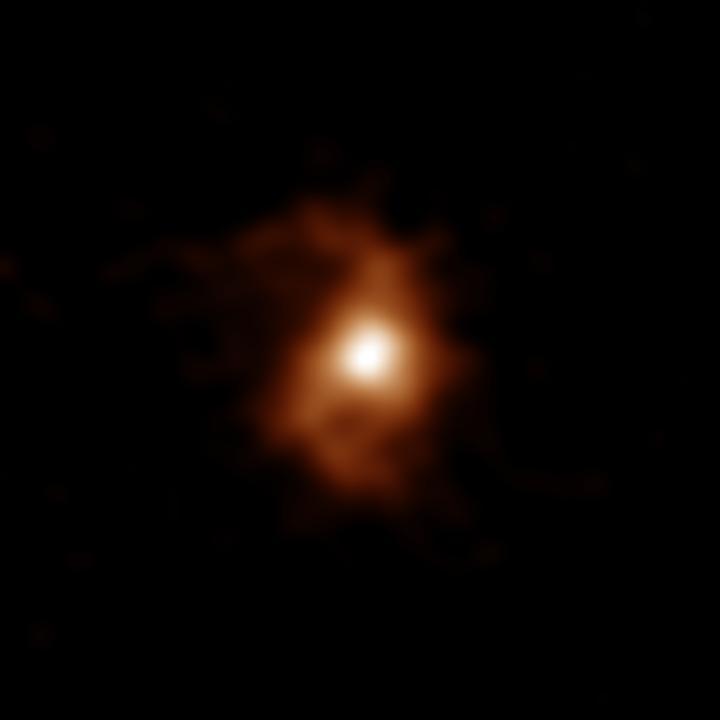 ALMA image of the galaxy BRI 1335-0417 at 12.4 billion years ago