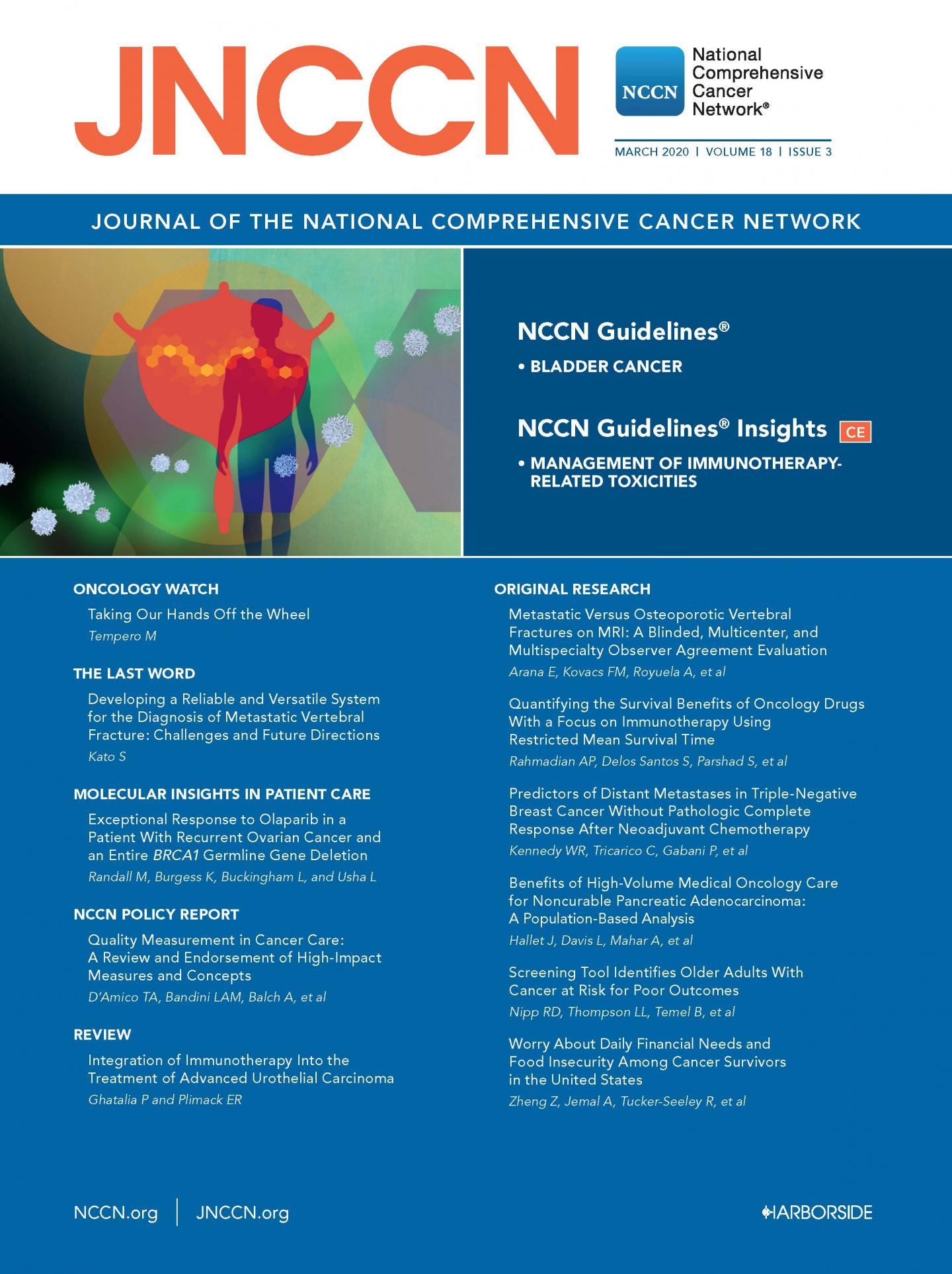 JNCCN March 2020 Cover
