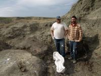 Scientists at Alberta Field Site
