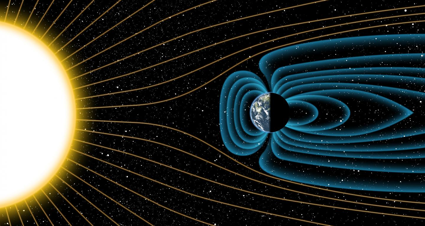 Earth's Magnetic Field Protecting the Atmosphere