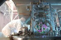 A Technician Works on 1 of LIGO's Optics