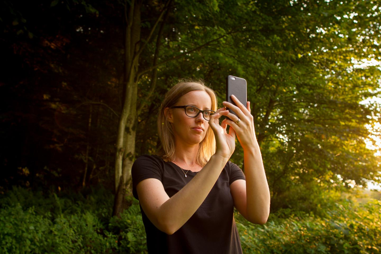University of Vermont scientist Laura Sonter takes a selfie