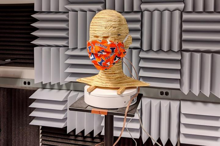 Illinois researcher Ryan Corey tested how different types of masks affect the acoustics of speech.