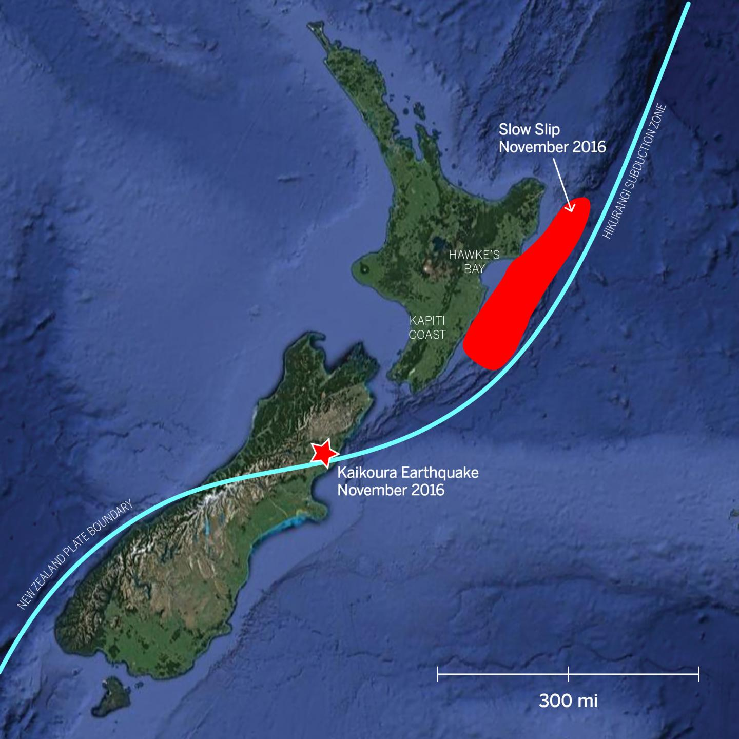 Earthquake and Slow Slip Map
