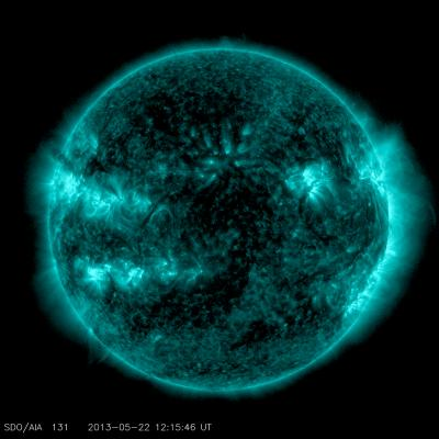 Solar Flare Captured by NASA's Solar Dynamics Observatory on May 22, 2013