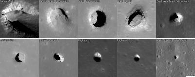 Moon's Known Mare Pits