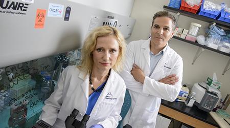 Agnieszka Witkiewicz, MD and Erik Knudsen, PhD, UA Cancer Center