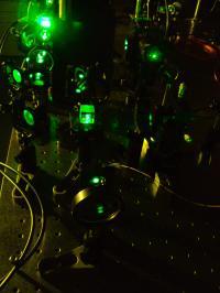 Experimental Setup for Slow Light in the Liquid Crystals Medium