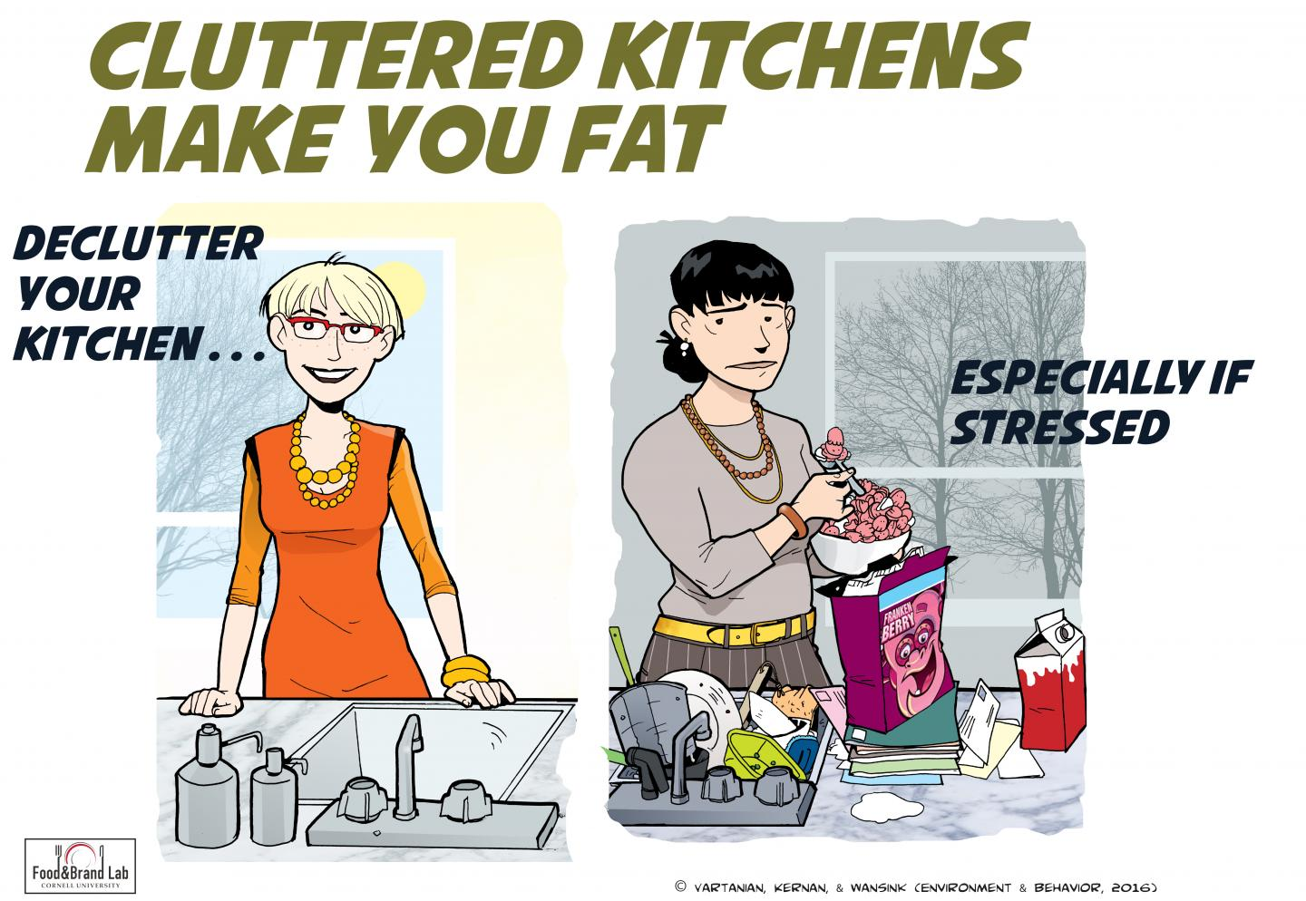 Cluttered Kitchens Can Make You Fat!