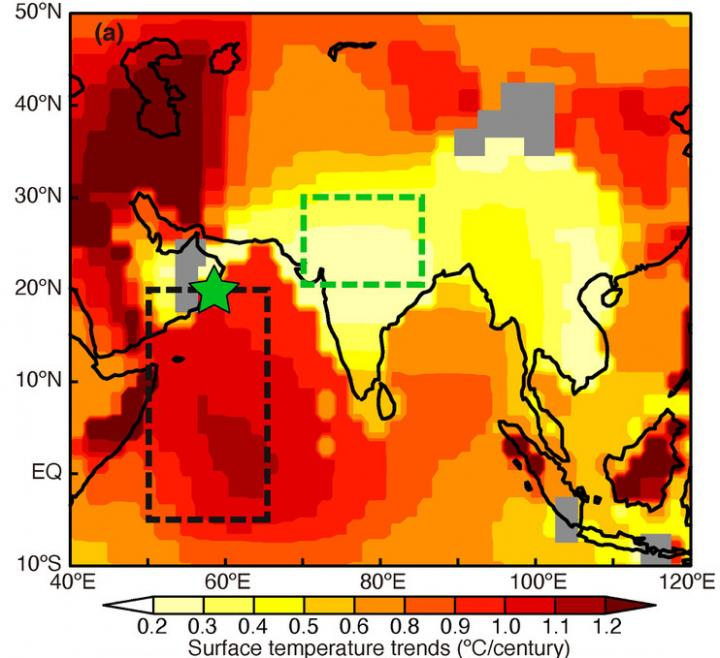 Warming trends of the northern Indian Ocean and the Indian subcontinent