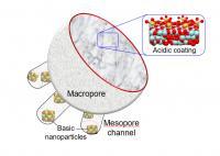 Sponge-like catalyst (graphic illustration)