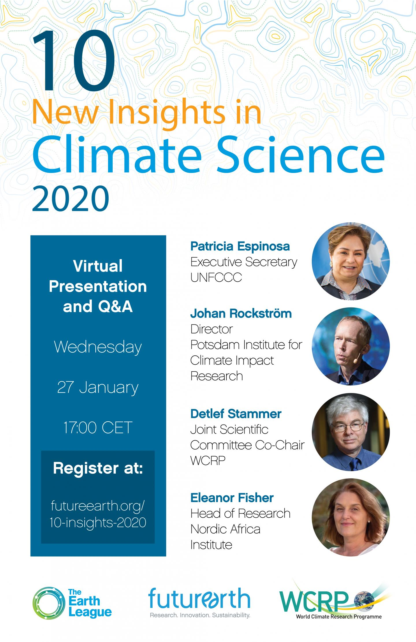 10 New Insights in Climate Science 2020 Launch Event
