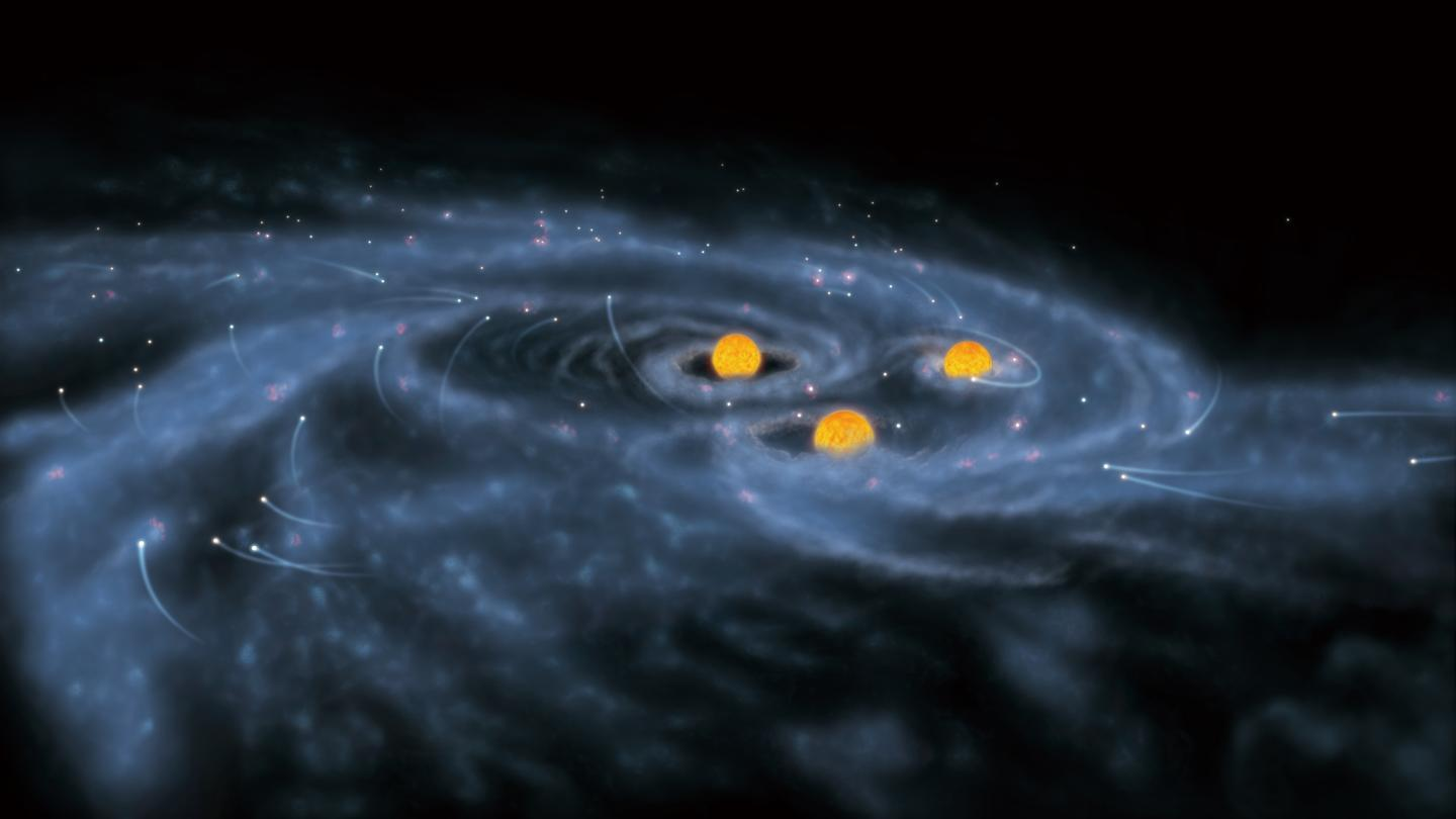 Artist's Impression of the Formation of Supermassive Stars