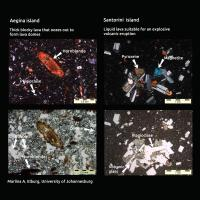 A Tale of Two Kinds of Volcanoes -- Mineral Clues