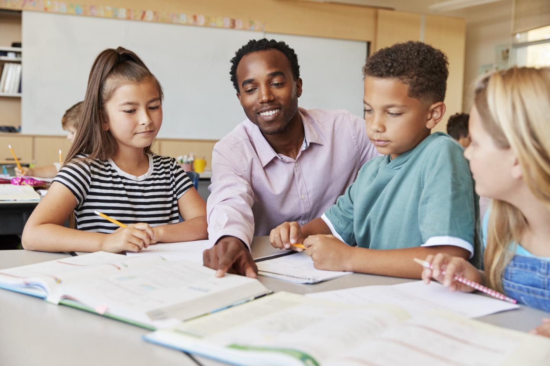 Black Male Teacher in the Classroom