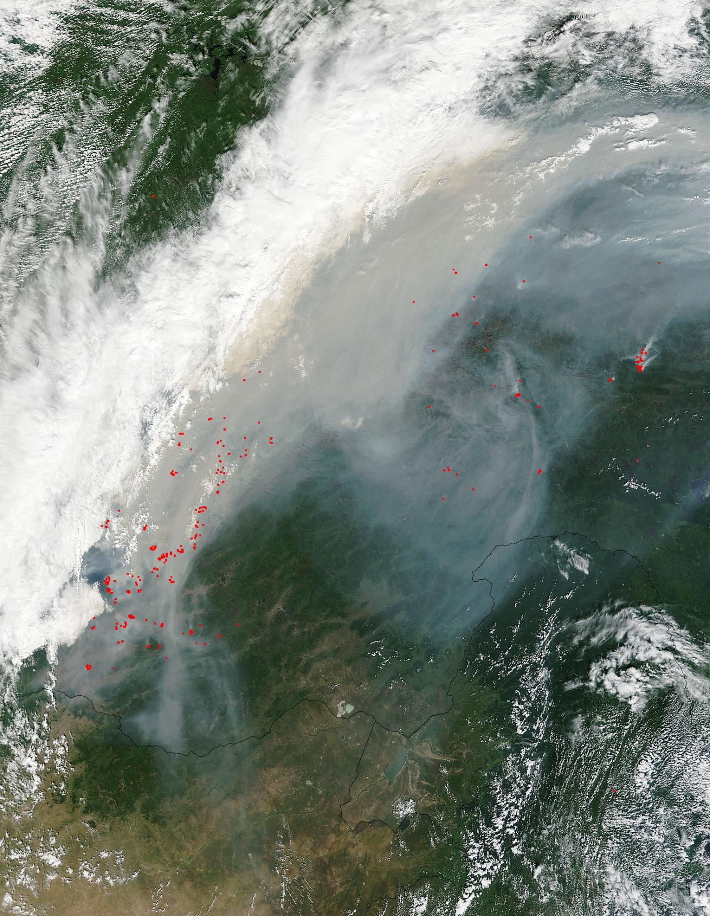 Fires Near Lake Baikul, Russia