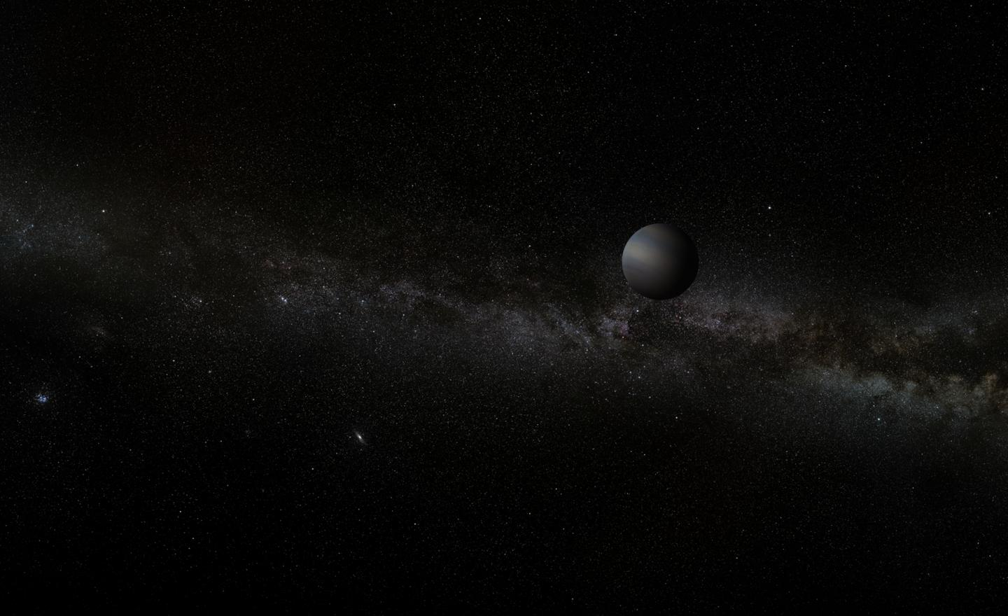 Artist's impression of a free-floating planet.