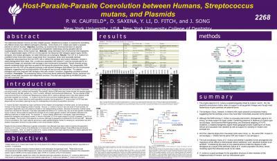 Host-Parasite-Parasite Co-evolution Between Humans, <i>Streptococcus mutans</i> and Plasmids