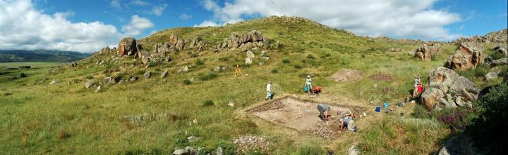 Excavation of the Dali Settlement in Southeastern Kazakhstan c. 2011 - Wide