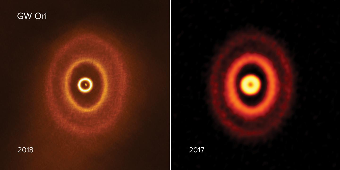 ALMA images of GW Orionis