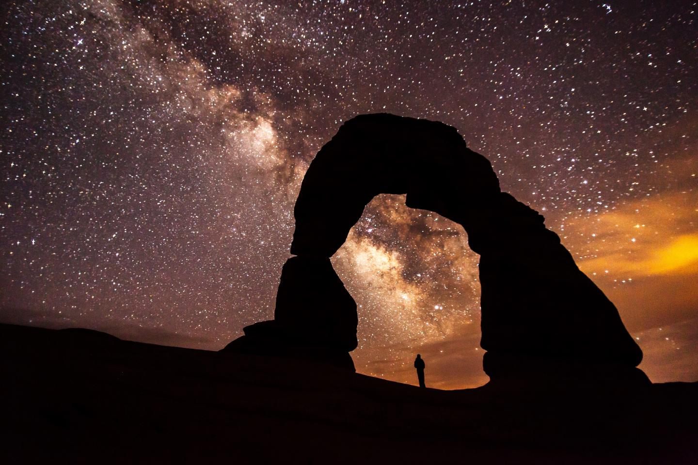 The Night Sky at Delicate Arches National Park