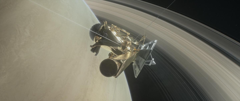 Cassini Spacecraft at Saturn