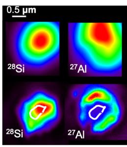 NanoSIMS images of a SiC grain