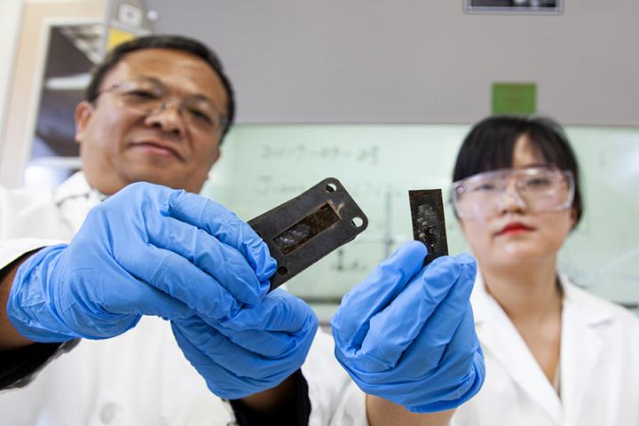 Researchers with Nanotubes