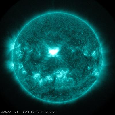 A Significant Flare Surges off the Sun