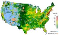 First high-resolution map of land value in the United states