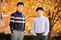 Illinois researchers professor Lei Zhao and study co-author Zhonghua Zheng.