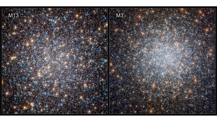 Cooling white dwarfs in two massive collections of stars: the globular clusters M13 and M3