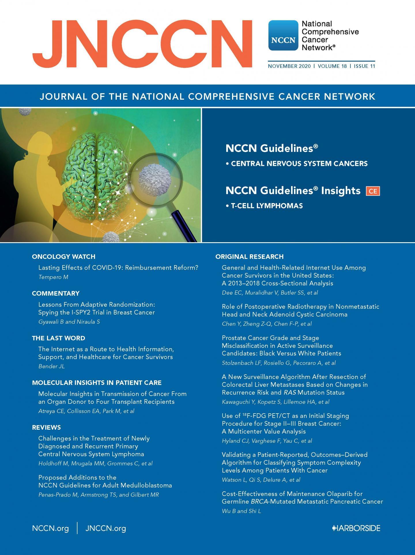 JNCCN November 2020 Cover