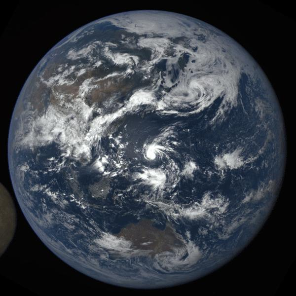 NASA Camera Shows Moon Crossing Face of Earth for 2nd Time in a Year