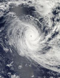 NASA's Aqua Satellite View of Cyclone Claudia