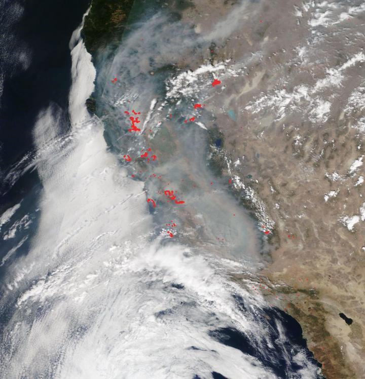 Terra image of California Fires