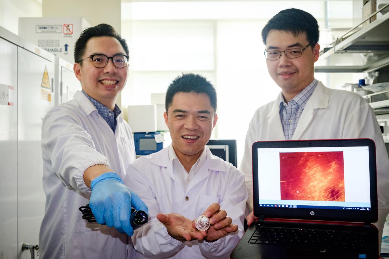 Dr. David Yeo, Asst Prof Xu Chenjie and Dr. Christian Wiraja, Nanyang Technological University