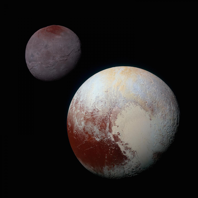 Pluto's Sputnik Planitia and Charon