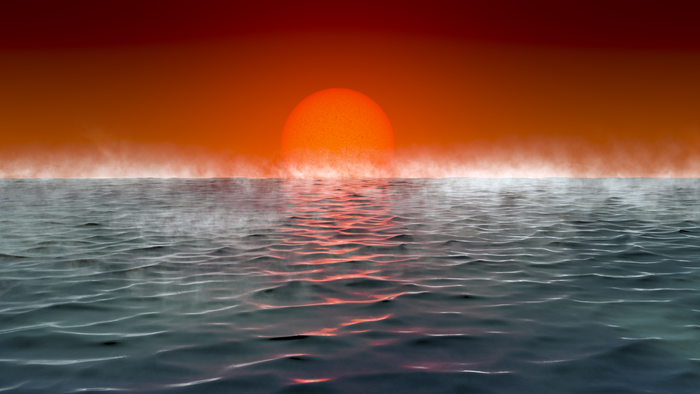 Artist's impression of a Hycean planet