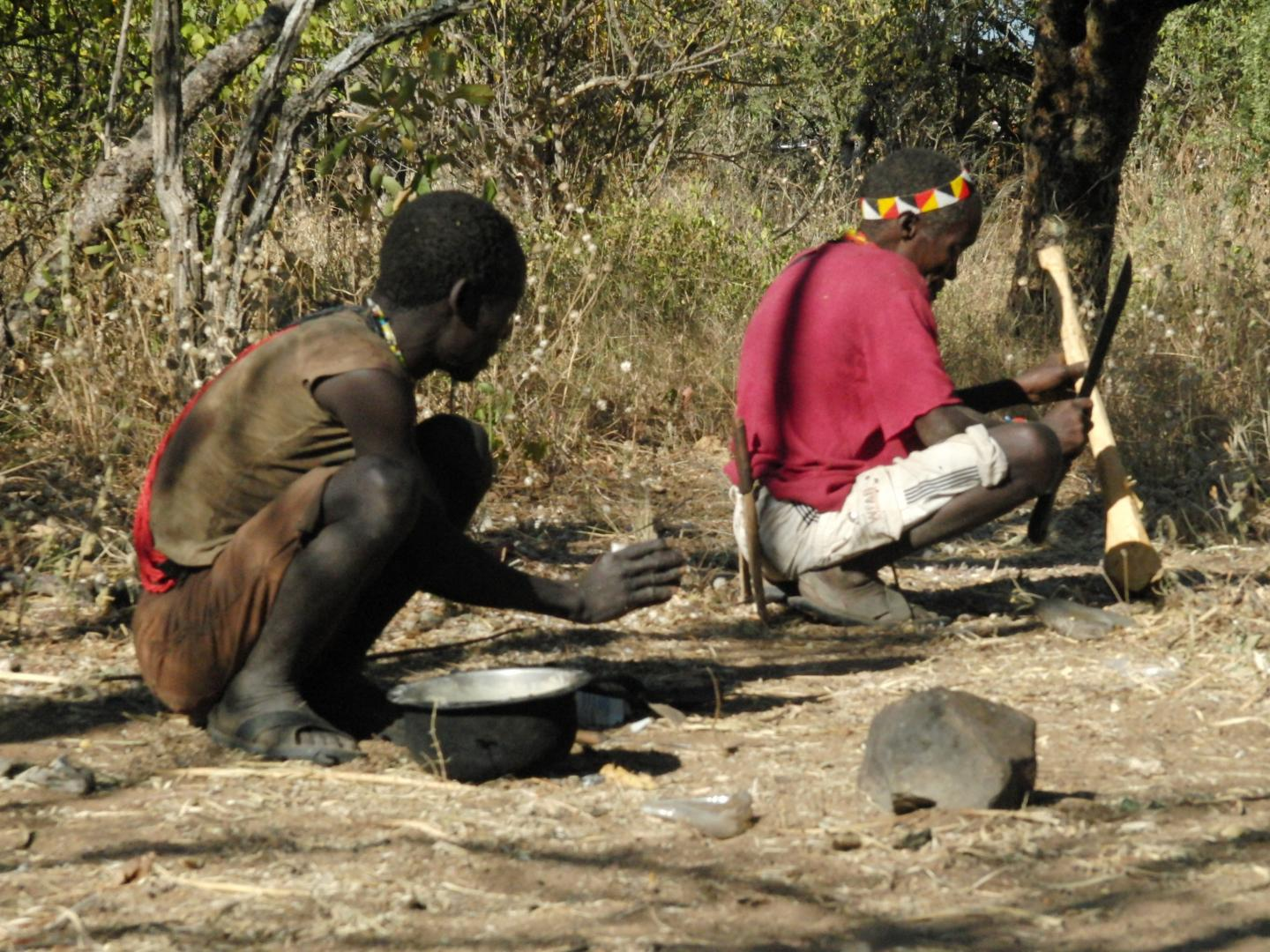 Hadza Participants in Resting Postures