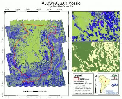 ALOS/PALSAR Mosaic -- Xingu Basin, Mato Grosso, Brazil