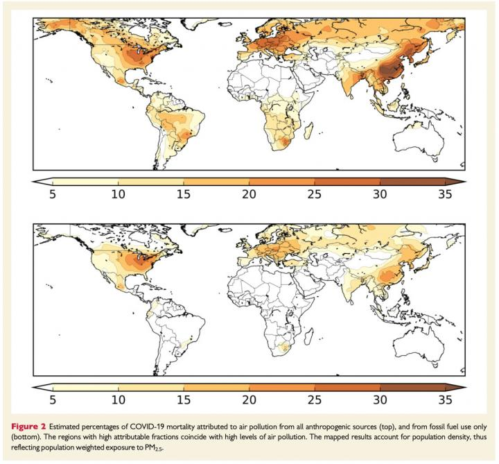 Exposure to Air Pollution Increases COVID-19 Deaths by 15% Worldwide