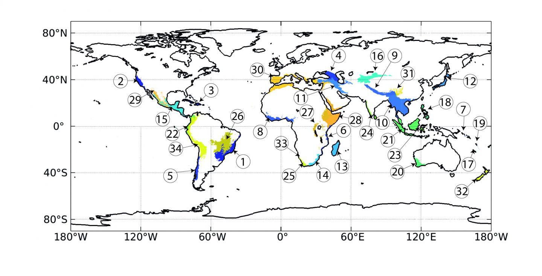Biodiversity Hotspots Span the Globe