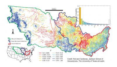 Map, Mississippi River Network