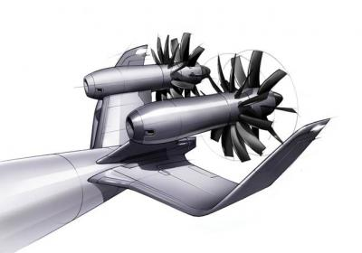 Aircraft Engine Concept Open Rotor Can Enable a 15 Percent Reduction to Aircraft Fuel Consumption