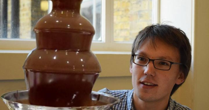 Adam Townsend with Chocolate Fountain