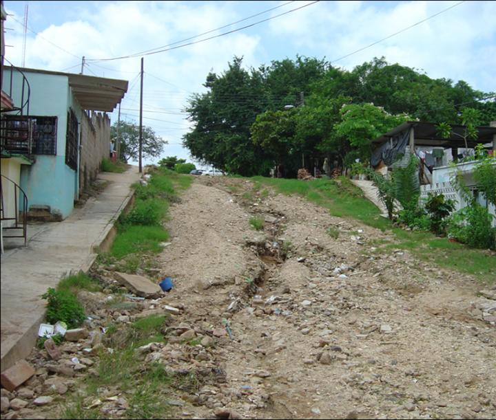 One of the Streets in the Mexican City before the Work