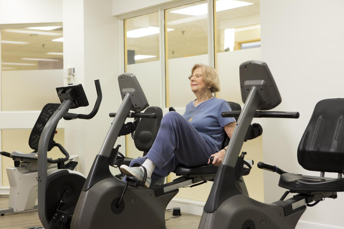 Older Adult Exercising at the Terraces of Baycrest