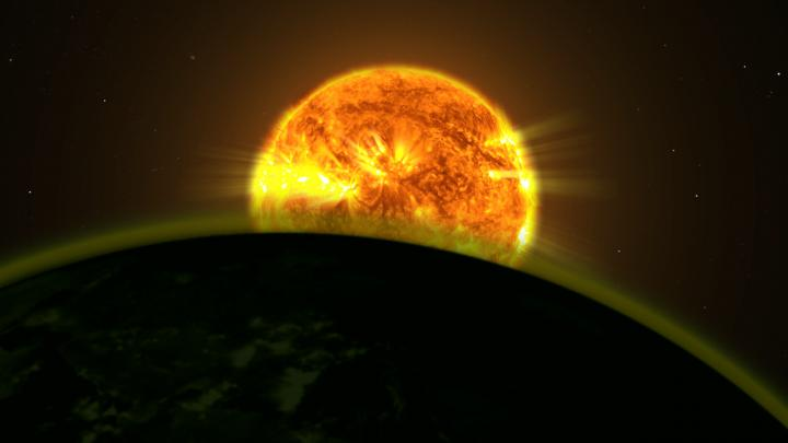 Illustration of Star and Exoplanet