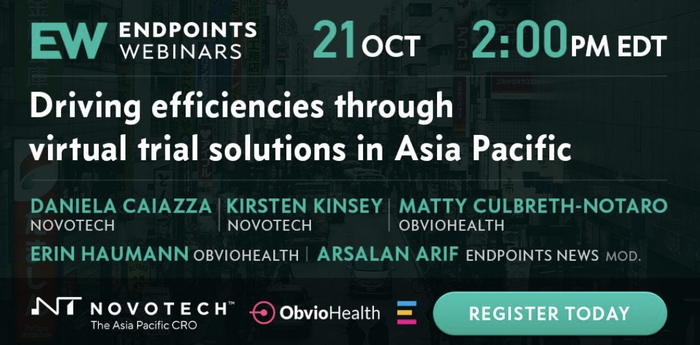 Driving Efficiencies with Virtual Trials Solutions in Asia Pacific – Endpoints Webinar featuring Novotech and ObvioHealth